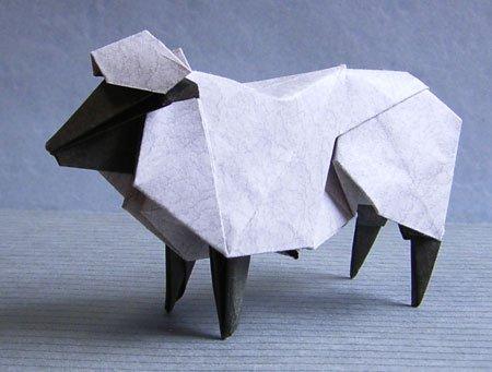 Японское модульное оригами коза овца мастер класс для новичков #5