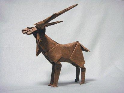 Оригами паттерн оленя для