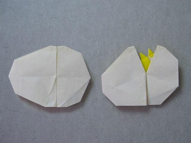 из яйца? Оригами модель