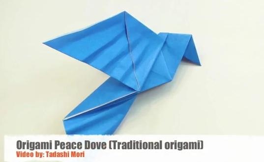 модульное оригами голубь схема.