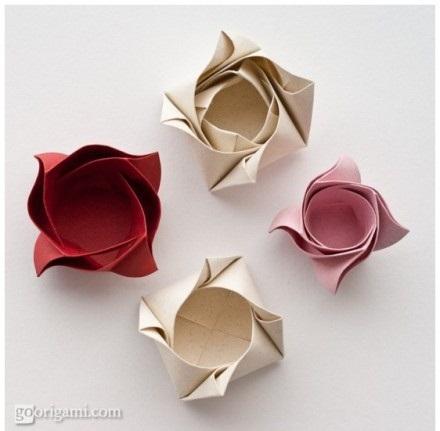 Оригами схема коробочки в