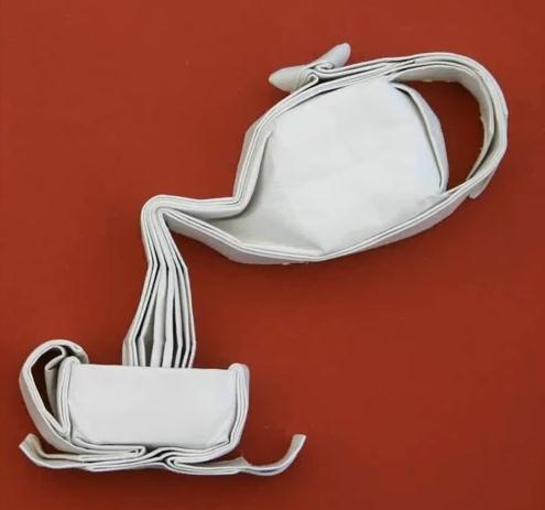 Оригами схема чашки и чайника