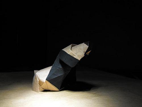 Оригами щенок