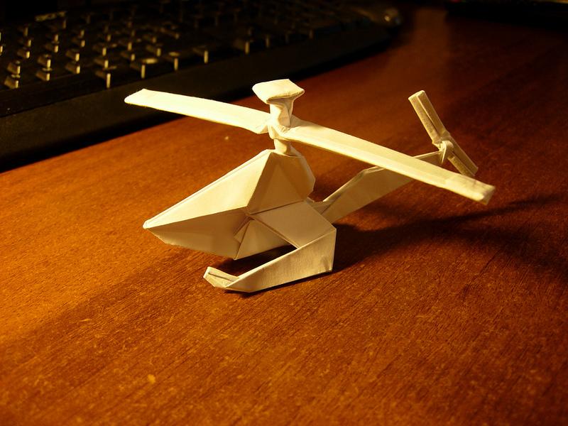 Оригами схема вертолета