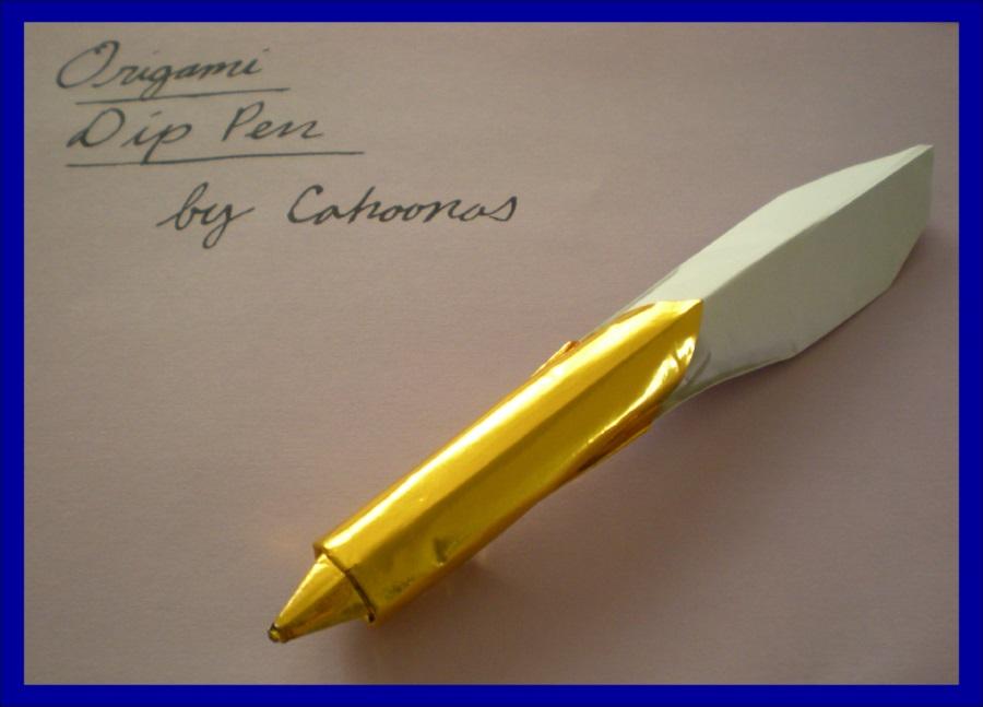 Схема оригами ручки