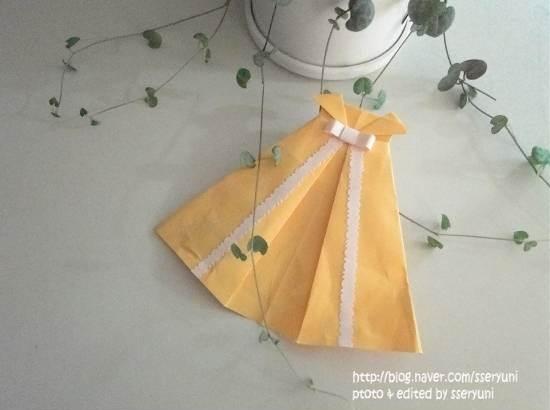 Оригами схема платья