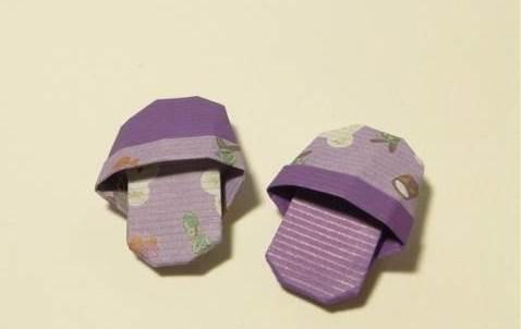 Оригами схема домашних тапочек