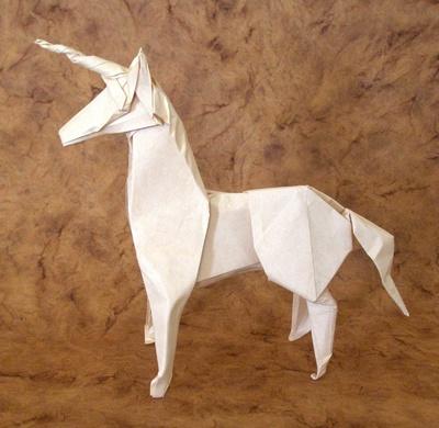 Оригами схема единорога