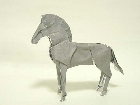 Оригами паттерн коня