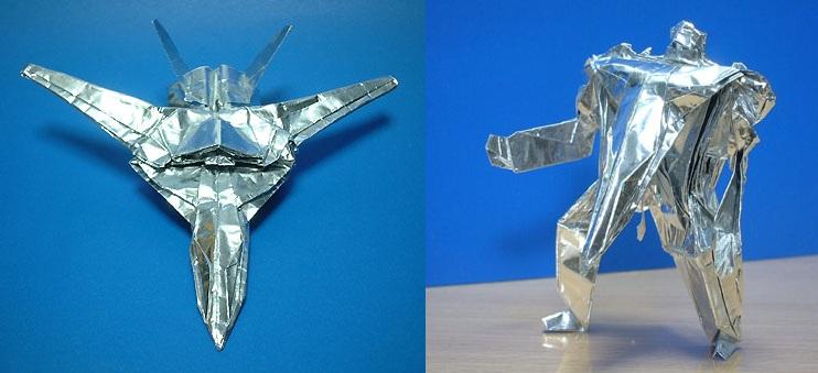 Оригами схема трансформера