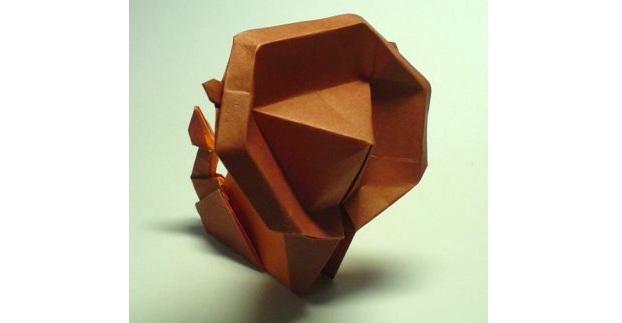 Оригами лев