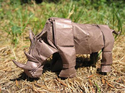 Оригами схема носорога от