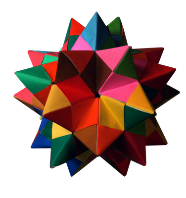 Модульное оригами: додекаэдр