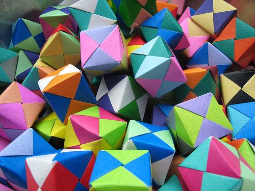 Оригами кубик Сонобе