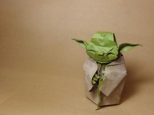 Оригами Магистр Йода