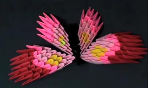 3D оригами: бабочка из модулей