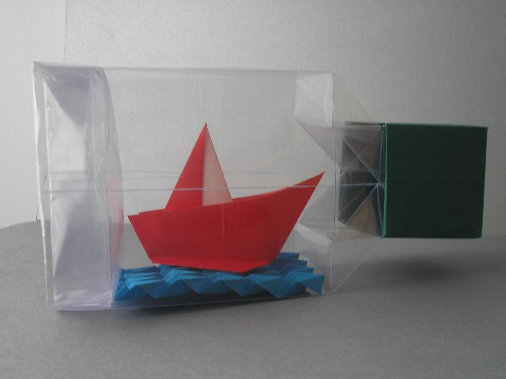 Оригами бутылка Дэвида Брилла. Как сложить оригами бутылку?