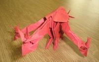 Оригами 3 головый дракон