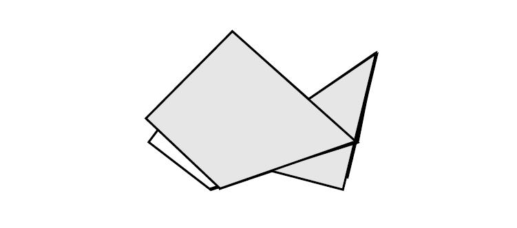 Оригами схема рыбки (автор М.